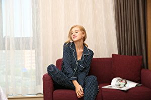 Ekouaer Pajamas Women's Long Sleeve Sleepwear Soft Pj 2