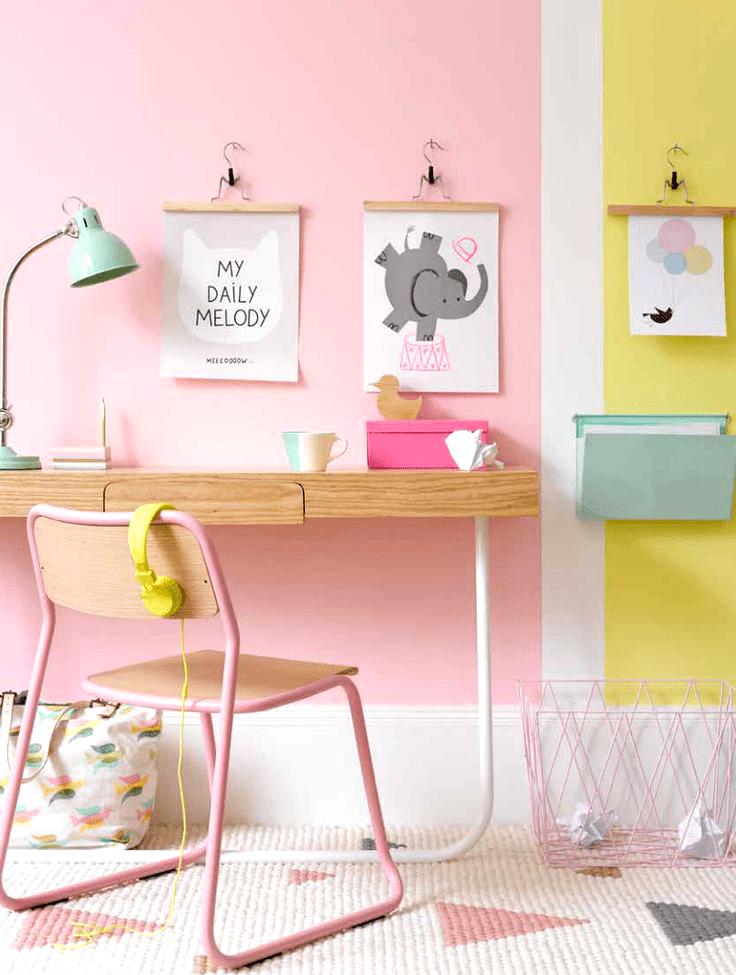 Kids decor ideas gelatto palette desk