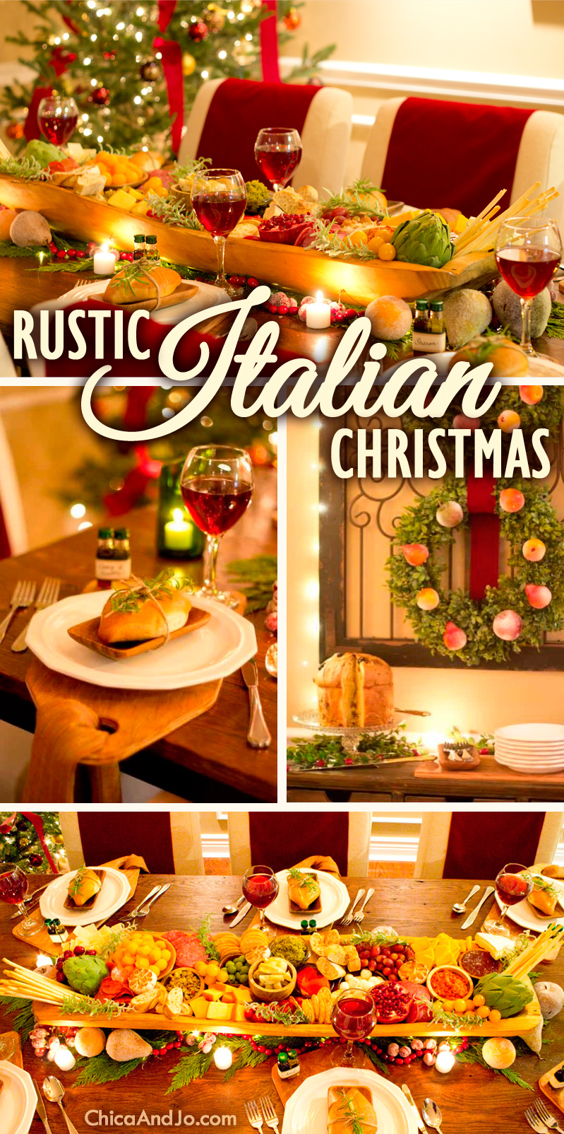 Rustic Italian Christmas Table Decorations Chica And Jo