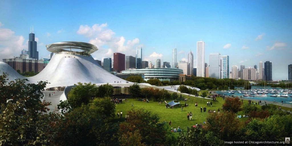 Lucas Museum drawing, courtesy of MAD Architects