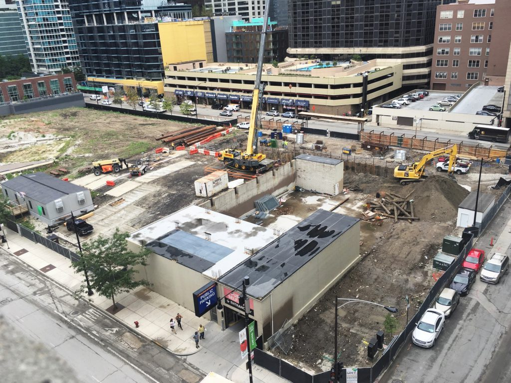 1 Bennett Park under construction (Courtesy of Daniel Schell/Building Up Chicago)