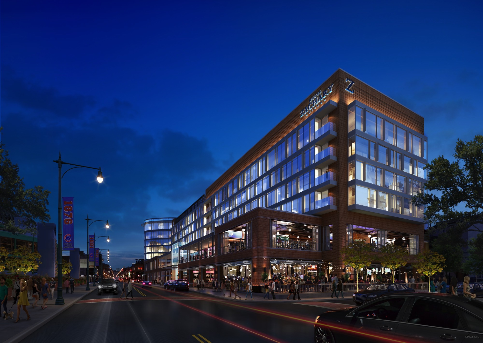 Rendering of the Hotel Zachary (Courtesy of Hickory Street Capital)
