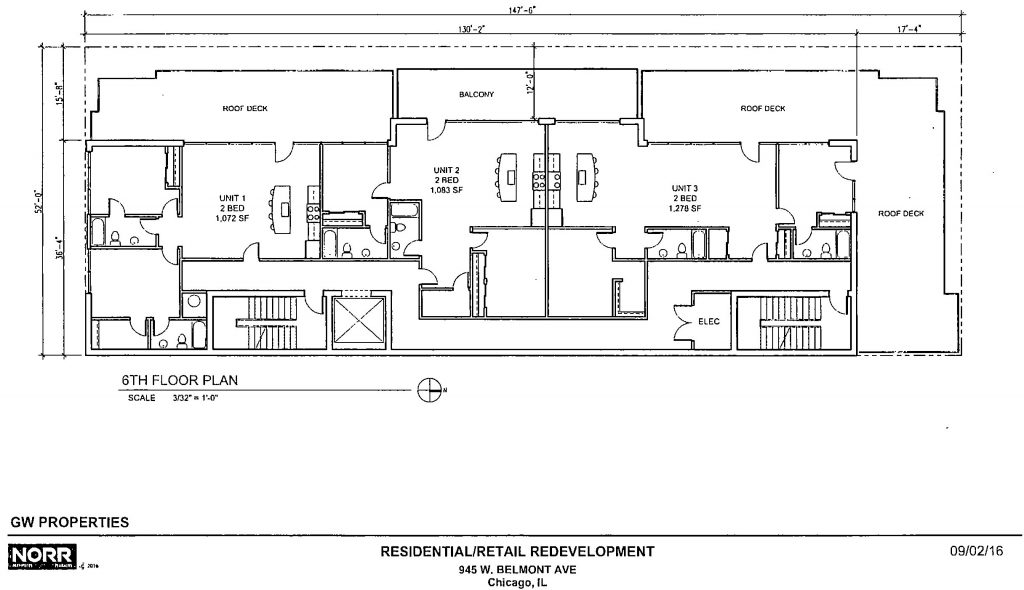 Diagram of 945 West Belmont