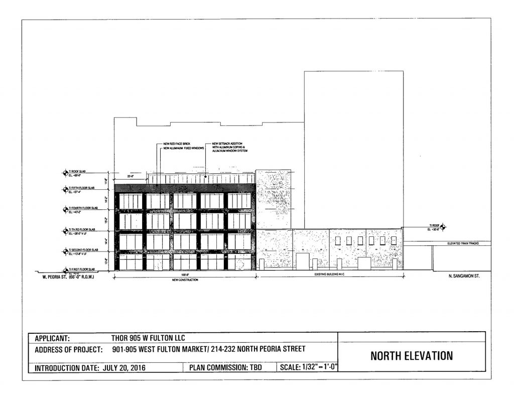 Drawing of 901 West Fulton Market