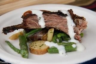 Tamarind BBQ Lamb Ribs w/Summer Bean Salad   Four Seasons