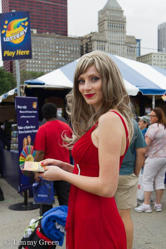 Vanna White Look-Alike for IL Lottery