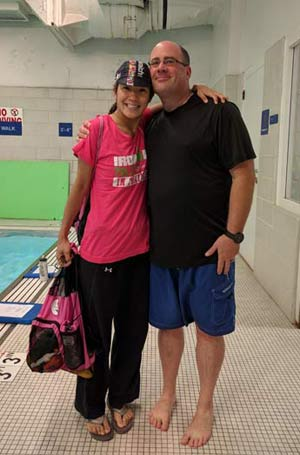 Savitre and Coach Fitz | Chicago Blue Dolphins