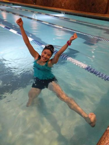 "Swimming with the ""big kids"" in the Fast Forward program. 