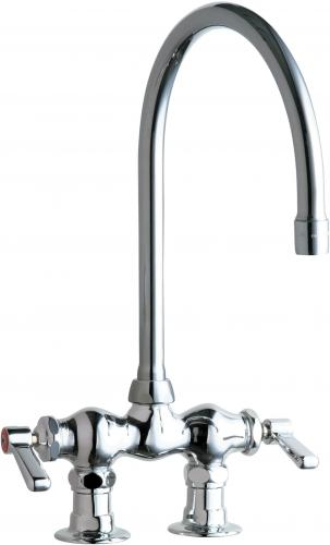 deck mounted manual sink faucet with 3 3 8 centers