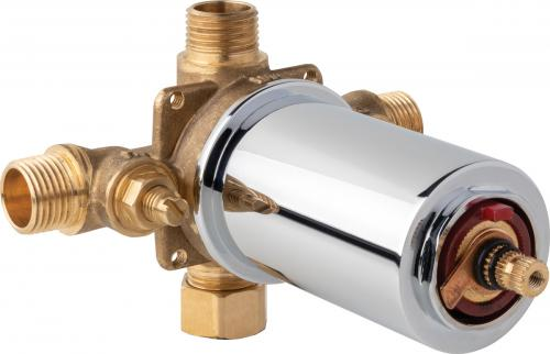 thermostatic pressure balancing tub and shower valve