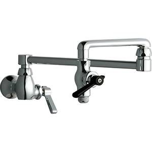 chicago faucets wall mounted commercial residential pot filler faucet 515 abcp