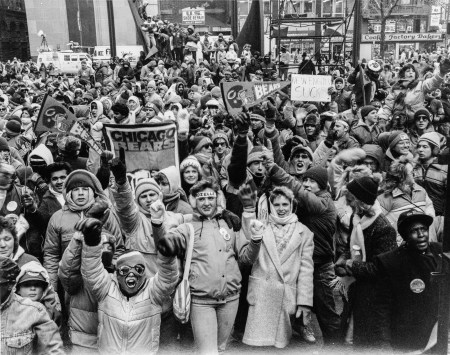 Chicago Bears fans in 1986