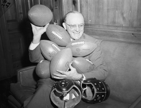 George Halas, owner of the Chicago Bears, 1947