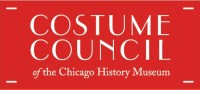 A red rectangle with white text that says Costume Council of the Chicago History Museum