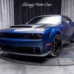 Used 2018 Dodge Challenger Srt Demon Rare Indigo Blue Paint Demon Crate Only 600 Miles For Sale Special Pricing Chicago Motor Cars Stock 17669