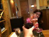 Toast with my good friend, Beth Rosen