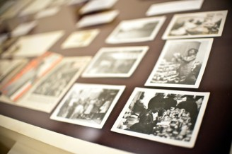 """Photos from the exhibit titled """"Report to the Public: An Untold History of the Conservative Vice Lords"""" are displayed at the Art In These Times in Logan Square. The exhibit will run through Dec. 31."""