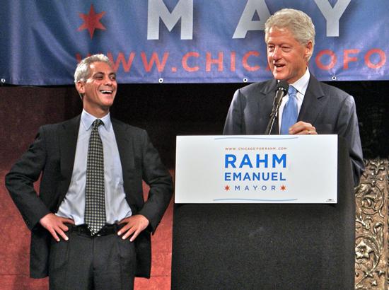 Rahm Emanuel and Bill Clinton