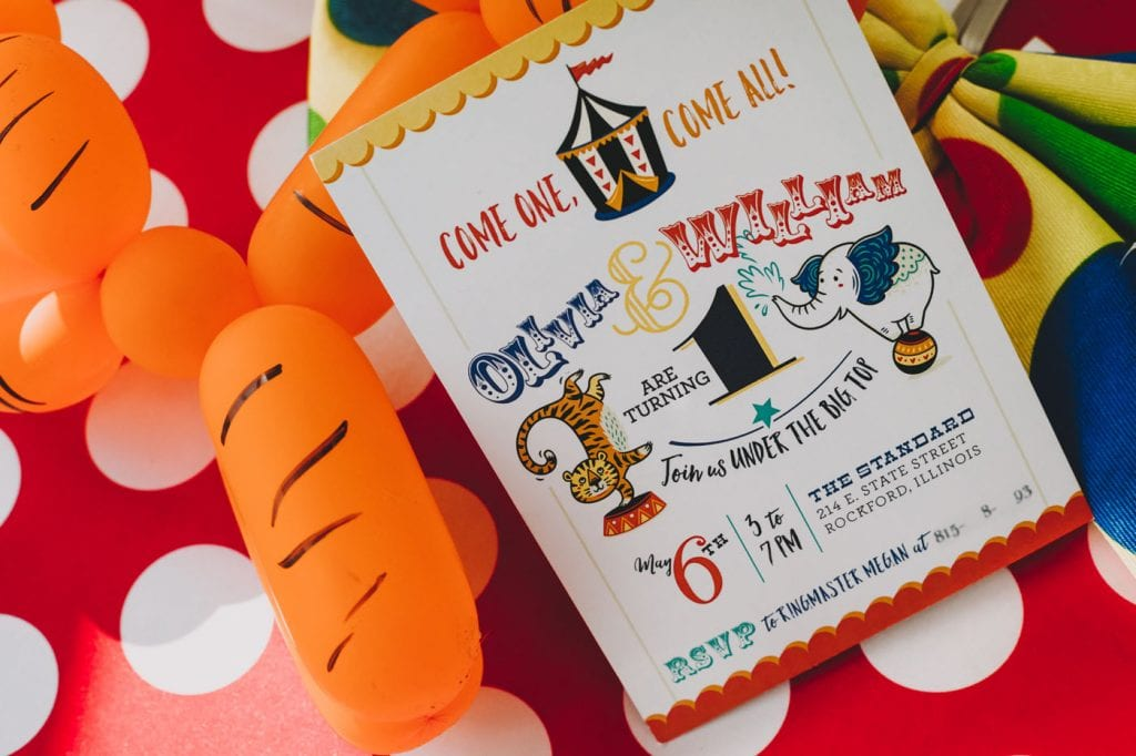 Colorful Fun Circus Themed 1st Birthday Party Chicago Style Weddings