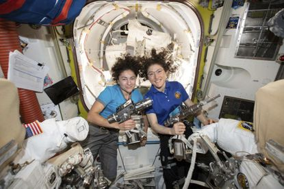 Watch live: First female spacewalking team makes history