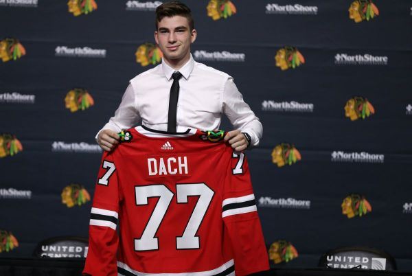 Kirby Dach, the No. 3 overall pick in the 2019 draft, makes his Blackhawks debut in a 5-3 loss to the Capitals