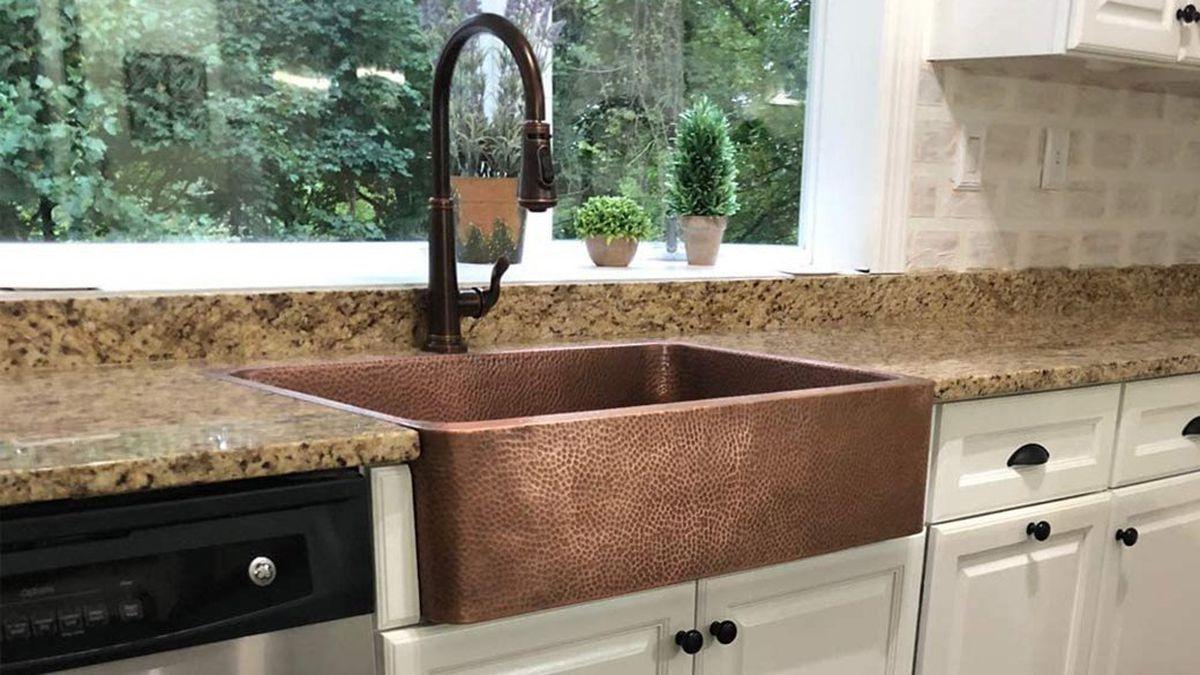 the best copper farmhouse sink