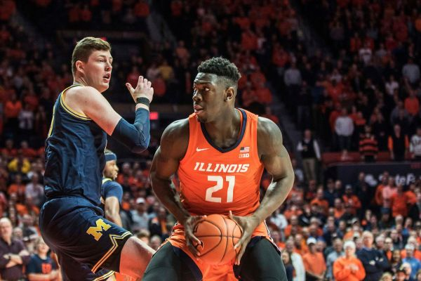 Illinois takes down No. 5 Michigan 71-62 behind freshman Kofi Cockburn
