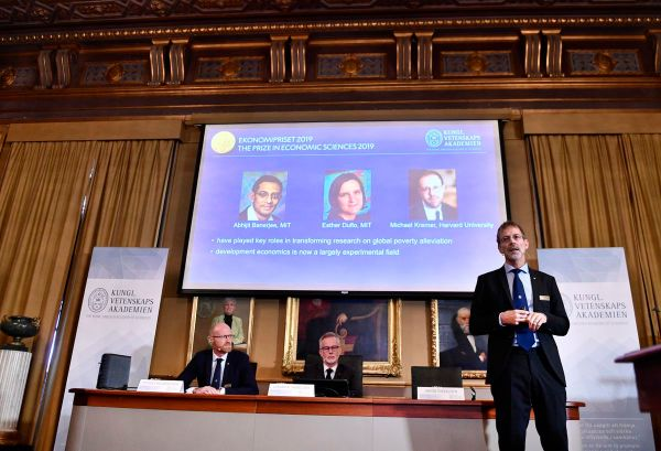 3 awarded Nobel Prize in Economics for work trying to alleviate poverty