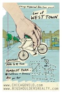 Tour of West Town 2011 Poster by Ross Felton