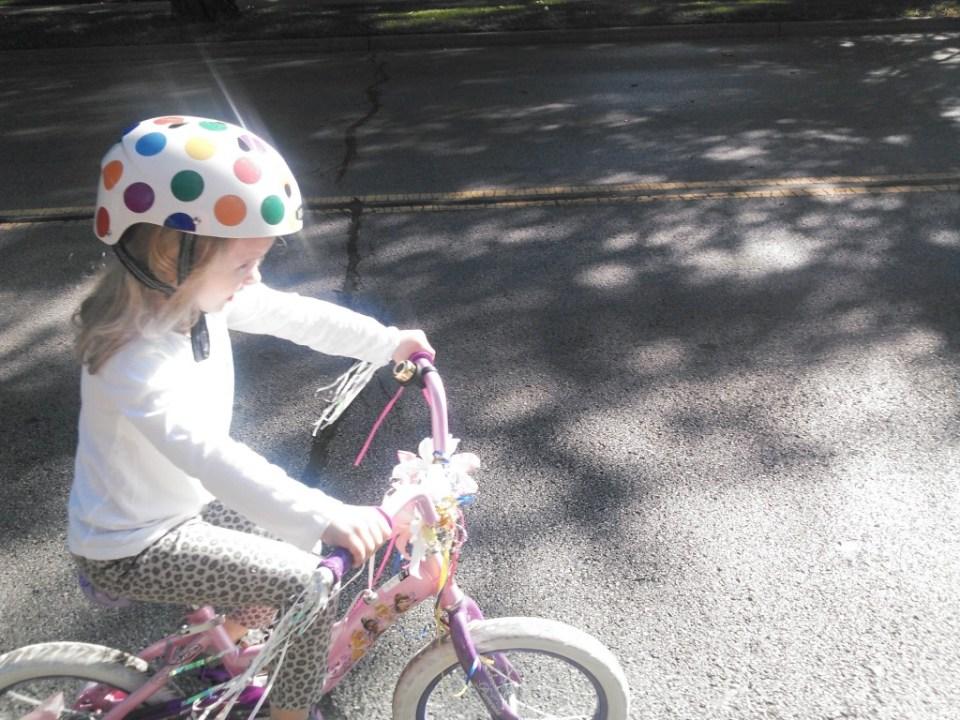 Zoe bikes the Ridge