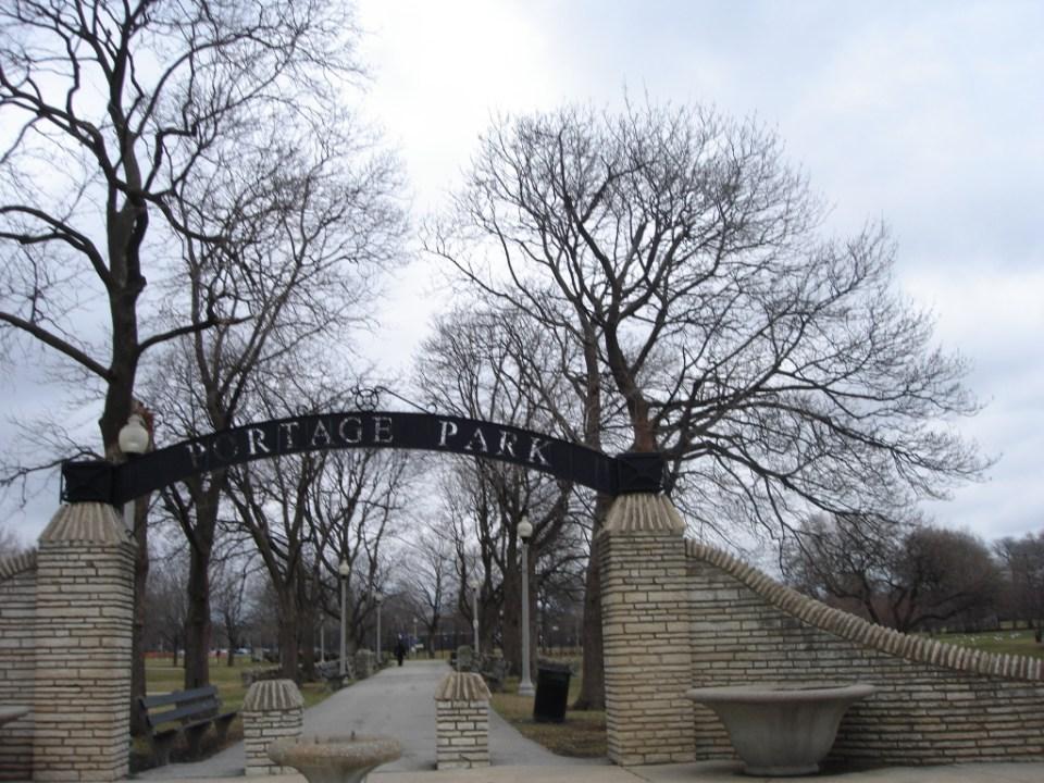 Portage Park entrance