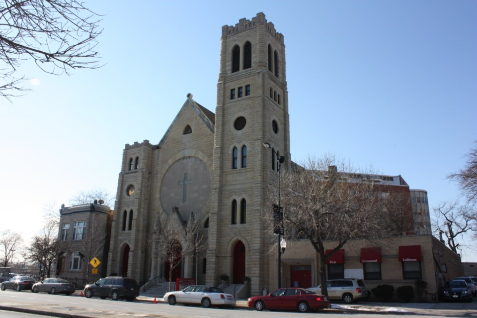 1st Immanuel Lutheran Church at 1128 S Ashland Ave, a Gothic Revival Church from the 1880s
