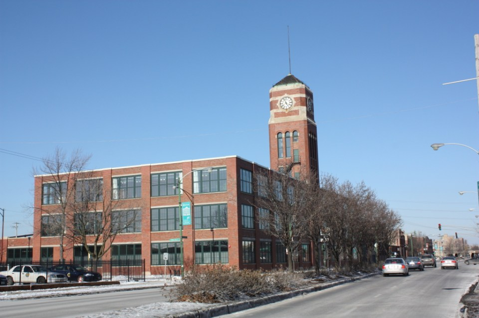 The Cameron Building at 238 N Ashland is a Prairie style manufacturing building designed by Thielbar and Fugard around 1915.