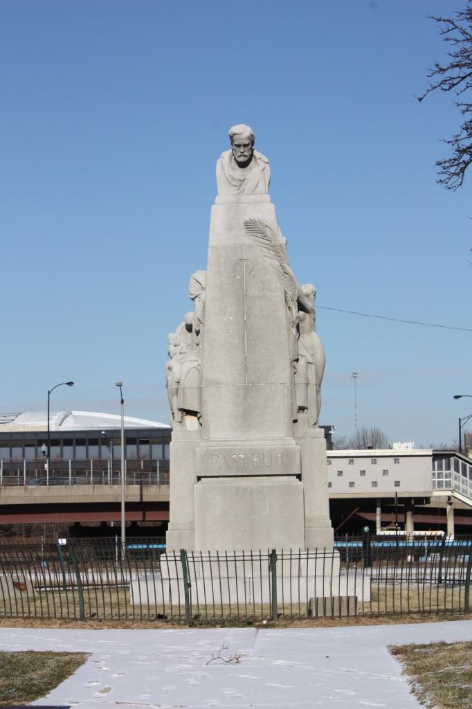 Pasteur Monument at 1820 W Harrison St. by Leon Hermant