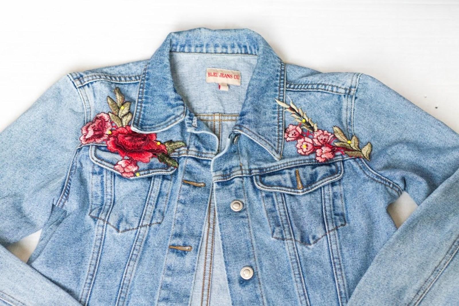 Kids Girls Embroidered Denim Jacket Zipper Baseball Jean Outerwear Coat