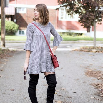 gingham-dress-over-the-knee-boots-with-a-pop-of-red-4