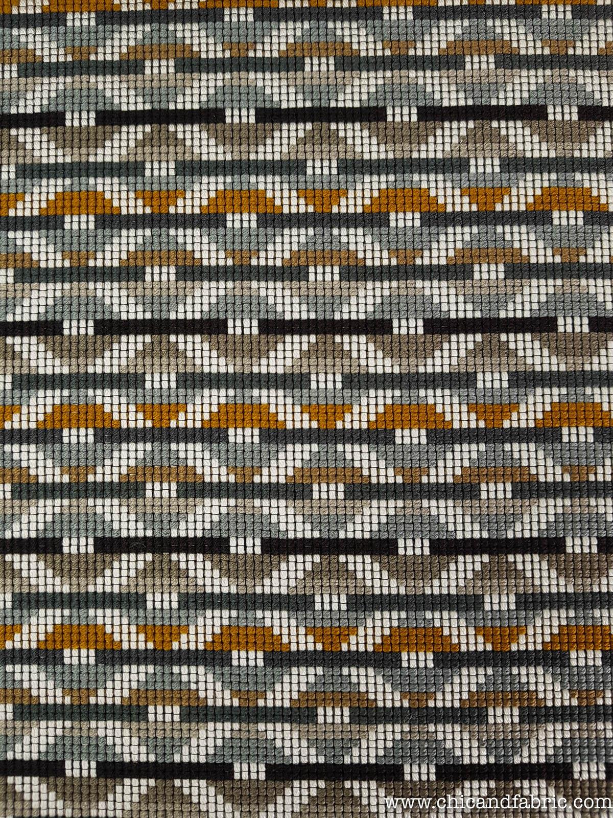 tissu d ameublement marron a imprime ethnique de style ethnique