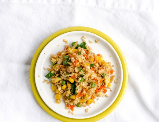 SO EASY. Cauliflower Fried Rice. My husband actually thought this was the real thing! | www.chicandsugar.com