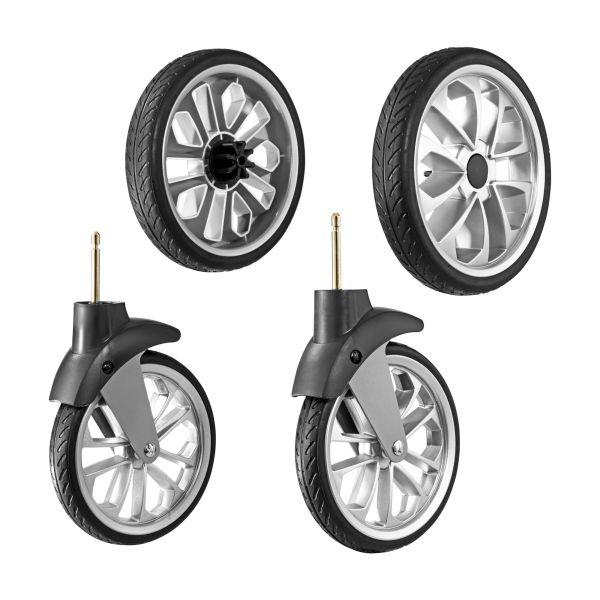 Bravo Treaded Rubber Stroller Wheels