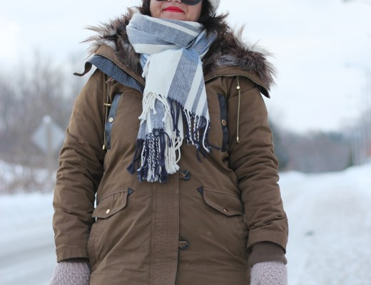 winter parka outfit