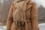 long camel coat, mackage babie coat