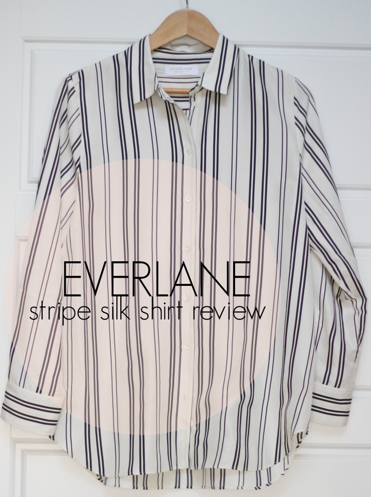 everlane the relaxed silk shirt review