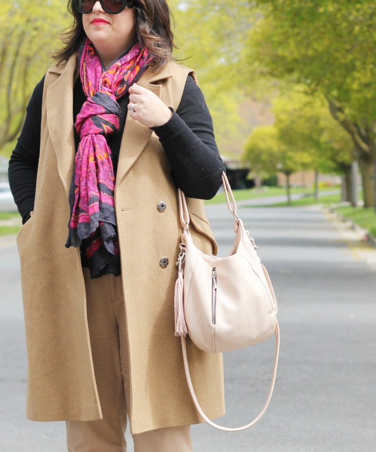 neutral sleeveless coat