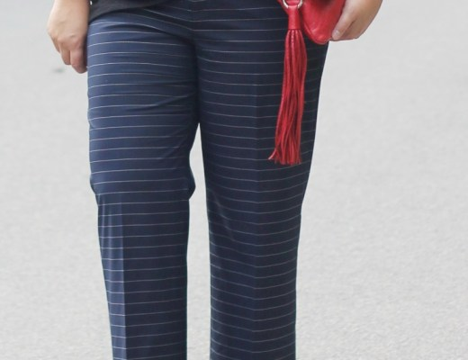 stripe trousers