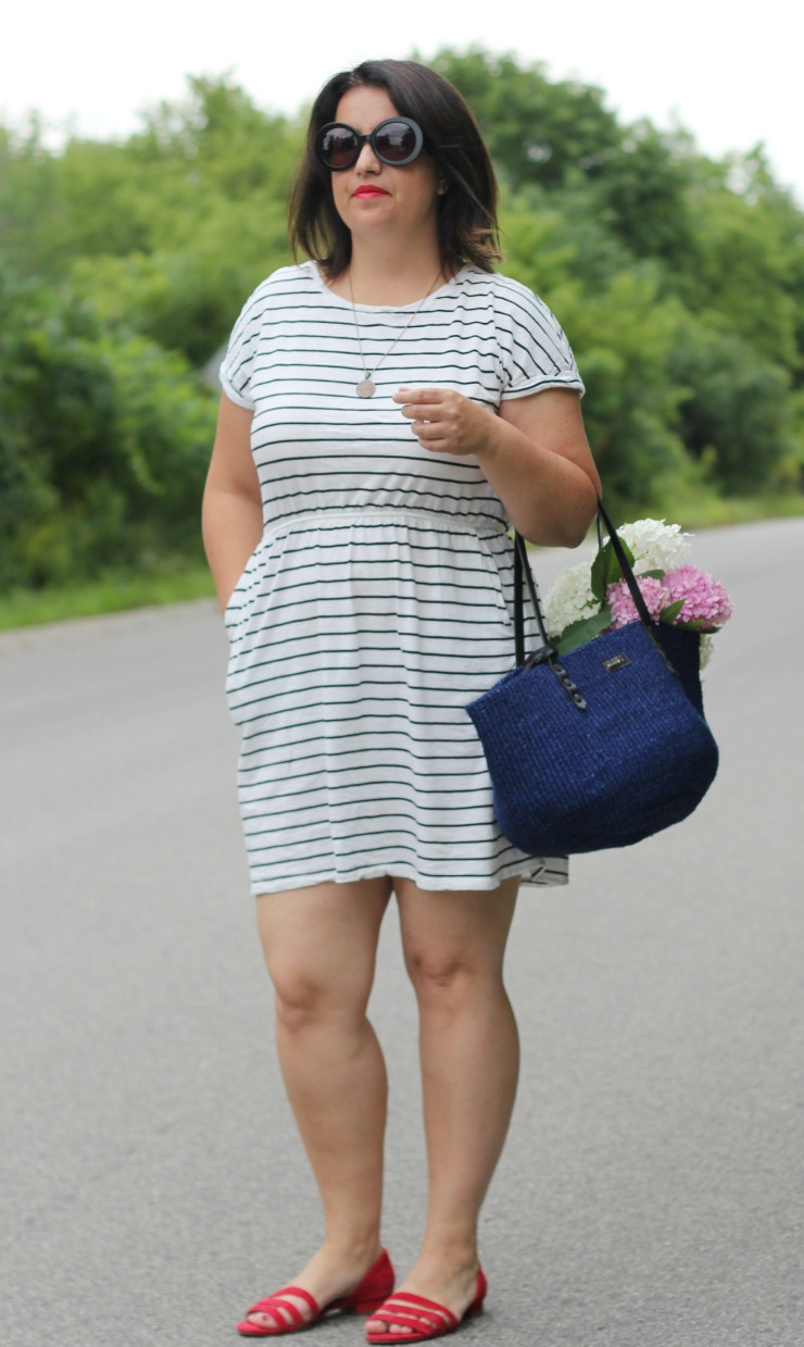 hm stripe beach dress
