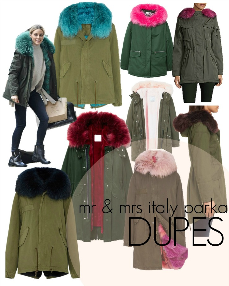 Mr and Mrs Italy Parka Dupes