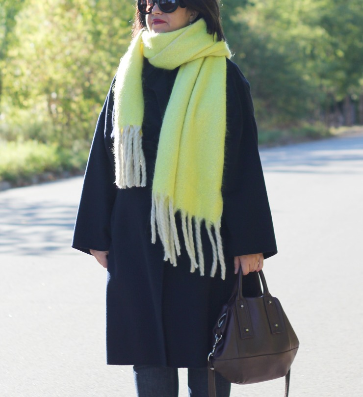 free people scarf zara coat