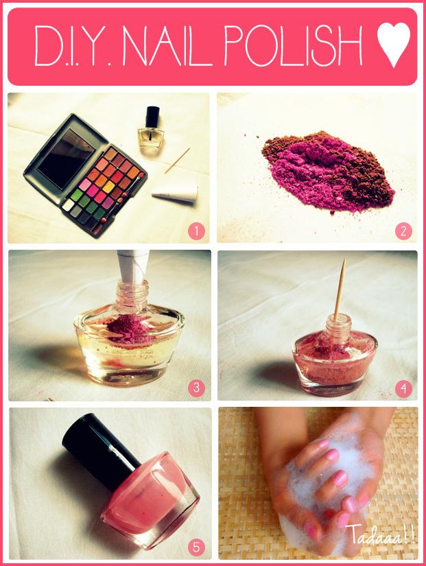 Make Your Own Nail Polish Using Eye Shadow