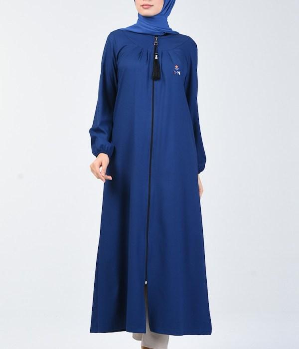 Zippered Abaya - Indigo