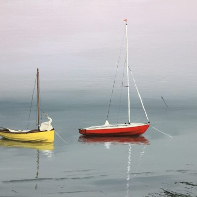 Misty Mooring No. 3 - Acrylic - 70 x 50cm - by Sheila Threadgill